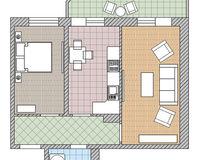 2 комнатная квартира 50,7 кв. м