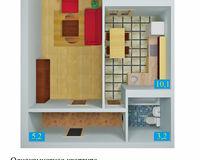 1 комнатная квартира 36,9 кв. м