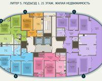 Подъезд 1, этаж 21