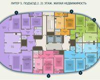 Подъезд 2, этаж 21