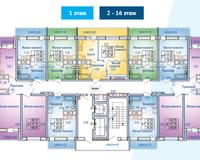 БС 2, этажи 2-16