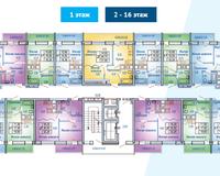 БС 3, этажи 2-16
