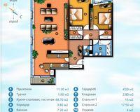 Площадь 136.8 кв. м