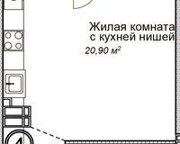 1-комнатная квартира 33 кв. м