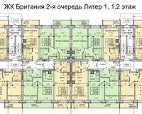 Литер 1, этажы 1 и 2