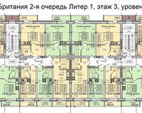 Литер 1, этаж 3, уровень 1