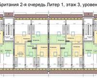 Литер 1, этаж 3, уровень 2
