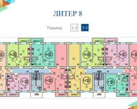 Литер 8, этажи 3, 4