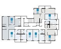 Плдъезд 1, этажи 3-20