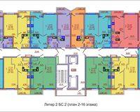 Подъезд 2, этажи 2-16