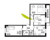 3-комнатная квартира 79.41 кв. м