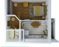 1 комнатная квартира 36,15 кв. м