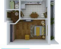 1 комнатная квартира 38,26 кв. м