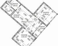2-комнатная квартира 57.69 кв. м