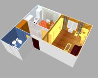 1-комнатная квартира 39.53 кв. м