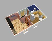 1-комнатная квартира 35.26 кв. м