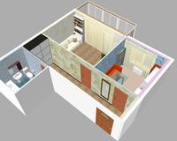 1-комнатная квартира 44.56 кв. м