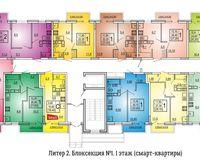 Литер 2, подъезд 1, этаж 1