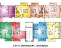 Литер 2, подъезд 1, этаж типовой