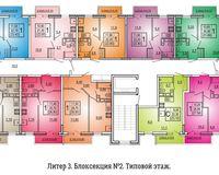 Литер 3, подъезд 2, этаж типовой
