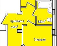 Площадь 51,86 кв. м
