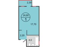 Студия 24,60 кв.м