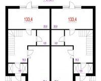 Дюплекс 120 кв. м, 1 этаж