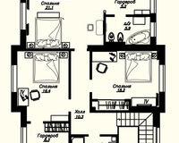 Коттедж Дрезден, этаж 2