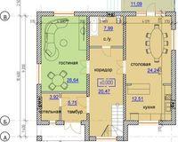 Тип А 208 кв. м, этаж 1