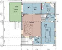 Тип С 234 кв. м, этаж 1