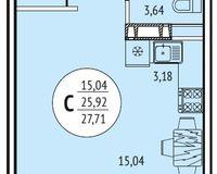Квартира-студия 27,71 кв. м