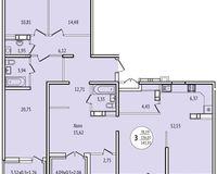 3-комнатная квартира 145,91 кв. м
