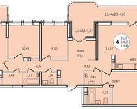 4-комнатная квартира 115,83 кв. м