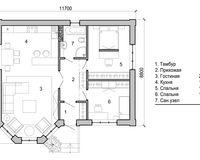 Дом площадью 85,3 кв. м