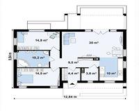 Дом площадью 90 кв. м