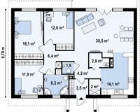Дом площадью 108 кв. м