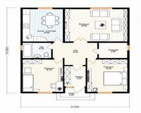 Дом площадью 80 кв. м