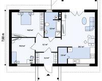 Дом площадью 74,5 кв. м