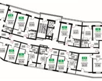 Литер 12, подъезд 1, этажи 12-24