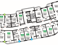 Литер 12, подъезд 3, этажи 2-11