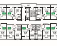 Литер 12, подъезд 2, этажи 12-24