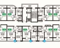 Литер 12, подъезд 2, этажи 2-11
