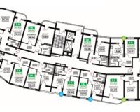 Литер 12, подъезд 1, этажи 2-11