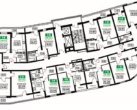 Литер 12, подъезд 3, этажи 12-24