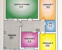 1 этажный жилой дом №1