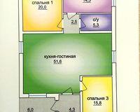 1 этажный жилой дом №3