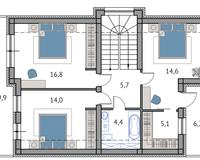 Тип 2, этаж 2