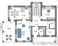 Тип 3, этаж 1