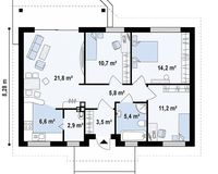 Дом 82 кв. м