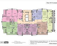 Подъезд 2, этажи 10-13